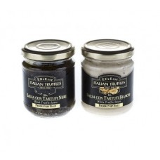 Duo of White & Black Truffle Sauce, 2 x 180g, 10% DISCOUNT